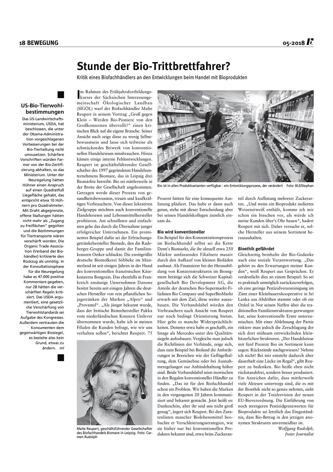 Presse, Bauernstimme, Malte Reupert